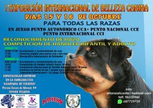 I Exposición Internacional de Belleza Canina de Villena / Monográfica de Rottweiler @ Academia de Ferrero