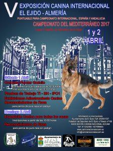 V Exposición Canina Internacional El Ejido y Campeonato del Mediterráneo 2017