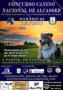 Concurso Canino Nacional de Alcasser 2017 @ Polideportivo Municipal de Alcasser