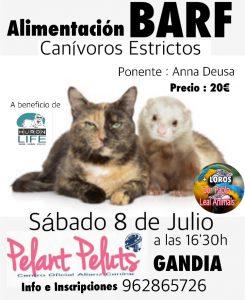 PONENCIA ALIMENTACIÓN BARF CARNIVOROS ESTRICTOS – ALIANZ GANDIA – JULIO 2017 @ Centro Alianz Gandia