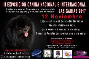 III Exposición Canina Nacional e Internacional de Las Gabias 2017 @ Pabellón Deportivo de Las Gabias