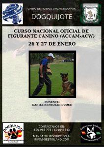 Curso Figurante Canino ACCAM-ACW 2018 @ Centro Canino DogQuijote
