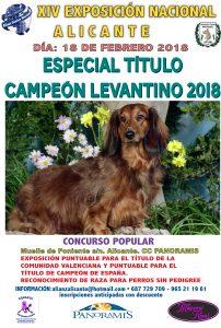 XIV Exposición Canina Nacional Alicante 2018 - Especial Título Campeón Levantino 2018 @ Centro Comercial Panoramis