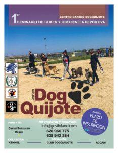 Seminario de Clicker y Obediencia Deportiva ACCAM-ACW 2018 @ Centro Canino DogQuijote