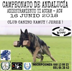 Campeonato de Andalucia Adiestramiento Canino TI ACCAM-ACW 2018 @ Club Canino Kamuy de Jerez
