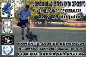 Jornada de Adiestarmiento Deportivo y Reglamento TI Canina Nacional ACCAM-ACW @ Kennel Campo de Gibraltar