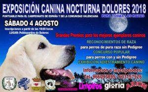 Exposición Canina Nocturna Dolores 2018 @ Polideportivo de Dolores
