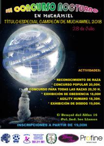 Concurso Canino Nocturno Muchamiel 2018 @ Poligono Industrial Los Llanos de Muchamiel