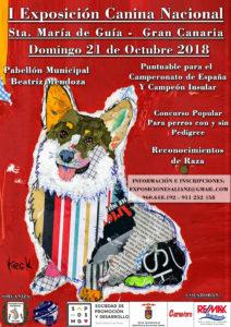 I Exposición Canina Nacional de Sta. María de Guía- Gran Canaria 2018 @ Sta. María de Guía de Gran Canaria