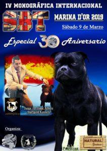 Monográfica de raza Staffordshire Bull Terrier 30 Aniversario ACCAM-ACW Marina d ´Or 2019 @ Marina d´Or
