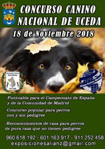 Exposición Canina Nacional Uceda - Guadalajara 2018 @ Polideportivo Municipal Uceda - Guadalajara