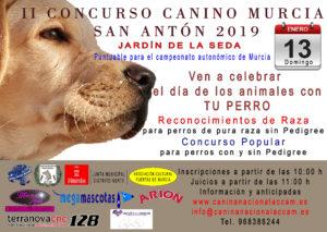 II Concurso Canino de Murcia San Antón 2019 @ Jardín de la Seda de Murcia